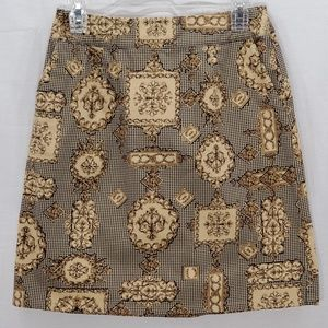 Talbots Tan with Black Skirt Size 6